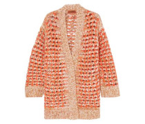Open-knit Cardigan Orange