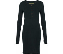 Cotton and cashmere-blend jersey mini dress