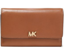 Leather Wallet Light Brown Size --
