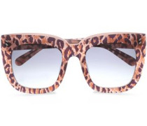 Square-frame Leopard-print Acetate Sunglasses Animal Print Size --