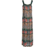 Printed silk gown