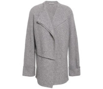 Ribbed-knit Wool And Cashmere-blend Cardigan Stone