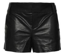 Woman Leather Shorts Black
