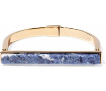 Gold-tone lapis lazuli bracelet
