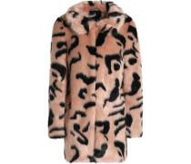 Bobby leopard-print faux fur coat