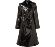 Belted Pvc Trench Coat Black