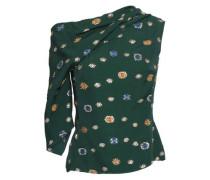 Gathered Metallic Fil Coupé Top Emerald