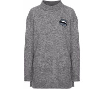 Embellished alpaca-blend sweater