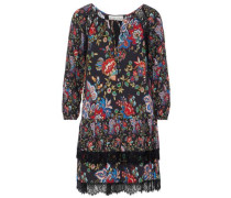 Lakita tiered floral-print crepe mini dress