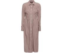 Striped Cotton-poplin Midi Shirt Dress Antique Rose