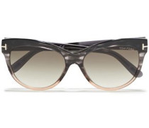 Woman Cat-eye Acetate Sunglasses Dark Brown