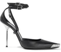 Woman Selena Embellished Leather Pumps Black