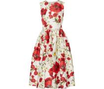 Floral-print cotton and silk-blend dress