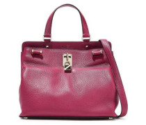 Joylock Pebbled-leather Shoulder Bag Magenta Size --