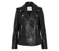 Norris studded leather biker jacket