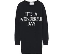 Intarsia Wool And Cashmere-blend Mini Dress Black