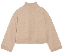 Wool And Cashmere-blend Turtleneck Sweater Sand