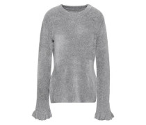 Embla Metallic Knitted Sweater Gray