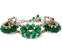 Courmayer Gold-tone Quartz And Crystal Bracelet Emerald Size --