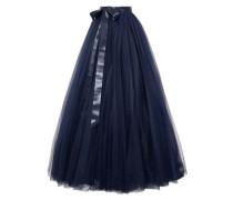 Pleated tulle maxi skirt