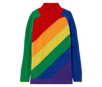 Striped Wool And Cashmere-blend Sweater Multicolor
