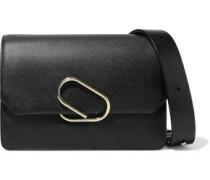 Alix Textured-leather Shoulder Bag Black Size --