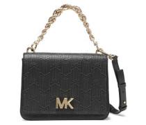 Mott Logo-embellished Quilted Leather Shoulder Bag Black Size --