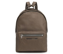 Leather Backpack Army Green Size --