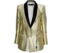 Embroidered Satin-jacquard Blazer Platinum
