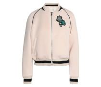 Appliquéd scuba bomber jacket