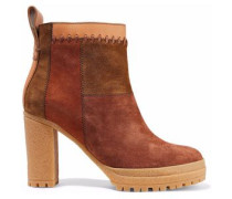 Claudia patchwork nubuck ankle boots