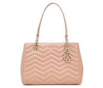 Reese Park Quilted Leather Tote Antique Rose Size --