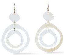 Gold-tone Resin Earrings Ivory Size --
