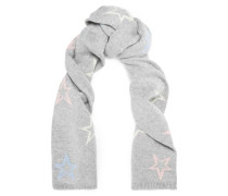 Intarsia merino wool and cashmere-blend scarf
