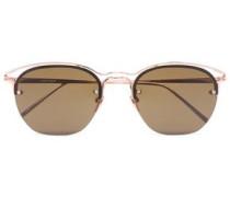 Aviator rose gold-tone metal sunglasses