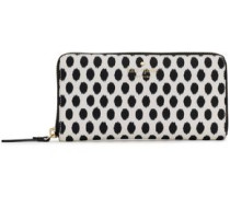 Printed faux textured-leather continental wallet