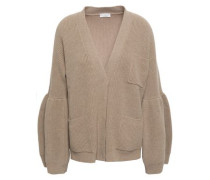 Ribbed-knit Cashmere Cardigan Sand