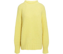 Woman Souxanne Brushed Alpaca-blend Sweater Pastel Yellow