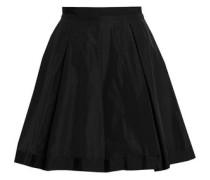 Crepe de chine flared mini skirt