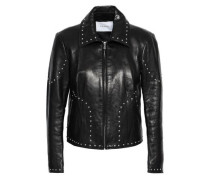 Studded Leather Jacket Black