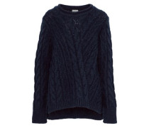 Cable-knit Sweater Navy