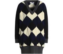Oversized jacquard-knit sweater