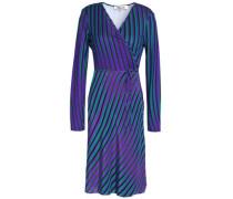 Printed Silk Wrap Dress Violet Size 0