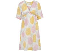 Woman Shinny Embellished Printed Crepe Dress Multicolor