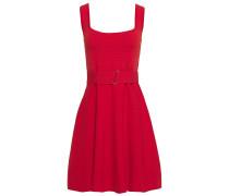 Belted Stretch-knit Mini Dress