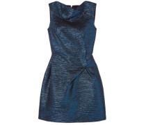Zonda Metallic Woven Mini Dress Navy Size 12