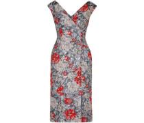 Jyoti Button-detailed Brocade Dress Silver