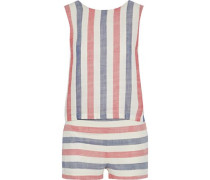 The Michy tie-back striped cotton-blend gauze playsuit