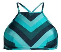 Printed Bikini Top Teal Size 1