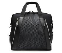 Leather-trimmed Mesh-paneled Neoprene Weekend Bag Black Size --